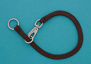 20&quot; Brown Braided Nylon Snap Choke Collar picture