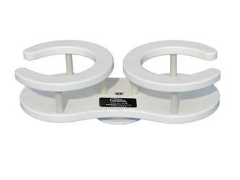 Deluxe Double Cup Holder-White picture