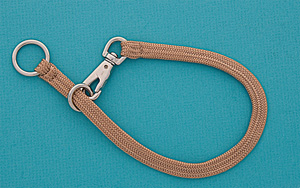 "20"" Fawn Braided Nylon Snap Choke Collar picture"