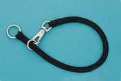 "22"" Black Braided Nylon Snap Choke Collar"
