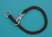 "16"" Brown Braided Nylon Snap Choke Collar"