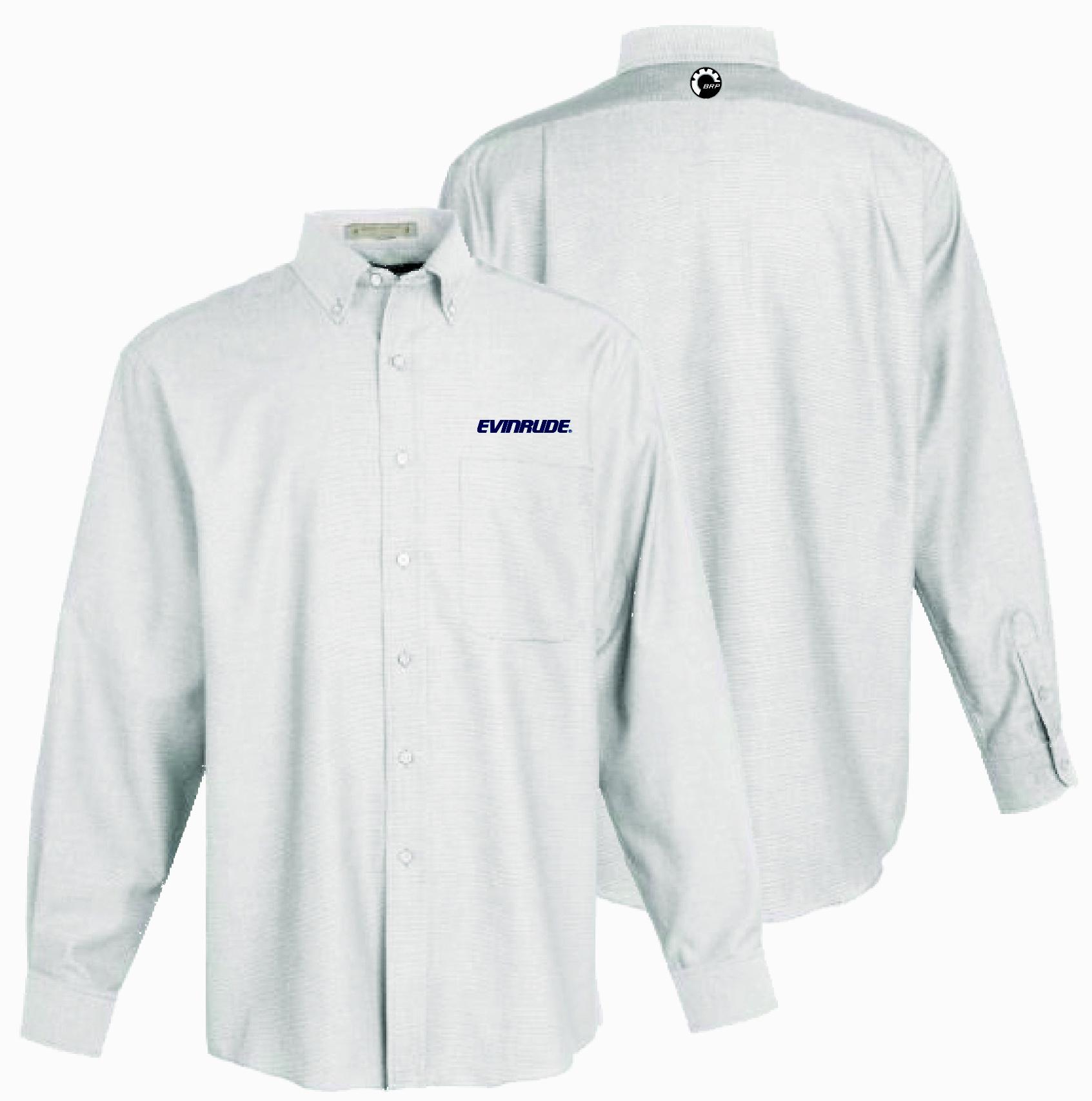Evinrude men 39 s white oxford shirt shirts for White oxford shirt mens