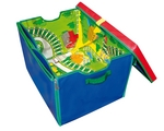 Neat-Oh!®  ZipBin® Full Throttle™ Road & Rail Toy Box & Playmat