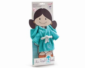 Bathing robe for 30cm doll terry-cloth picture