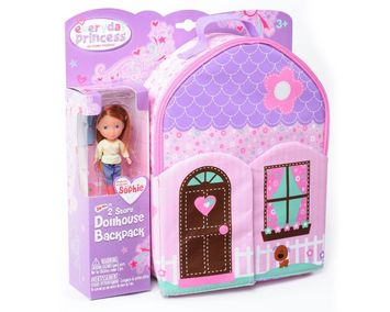 Neat-Oh!® Everyday Princess™ ZipBin® 40 Doll Dollhouse Backpack w/ 1 Doll picture