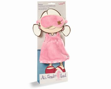 Nightgown with sleeping eye mask for doll Minilina 30cm picture