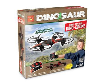 Dinosaur Mime-Control™ Dino-Drone™ (Black/Red) picture