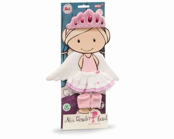 Set ballerina tiara, tutu, gaiters & wings for 30cm doll plush picture