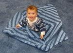 Snuggly Eyelet Baby Blanket (PDF)