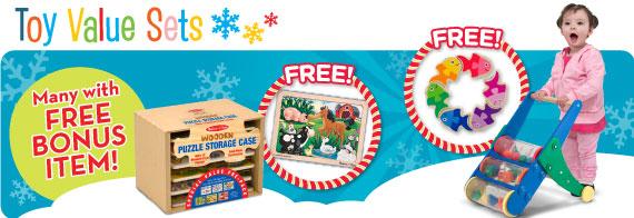 Toy Value Sets with FREE Bonus Items