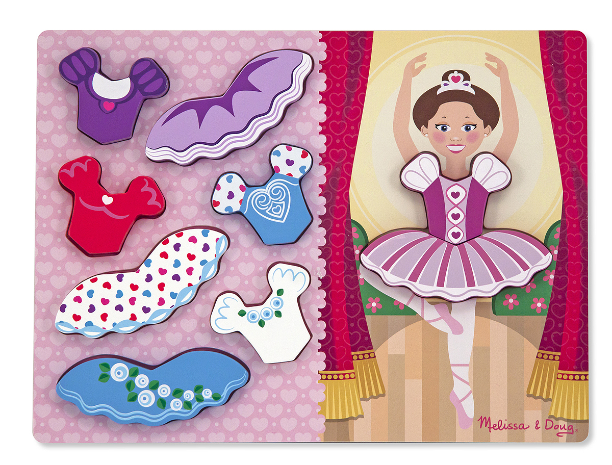 Melissa and Doug Ballerina Dress-Up Chunky Puzzle – 9 pieces