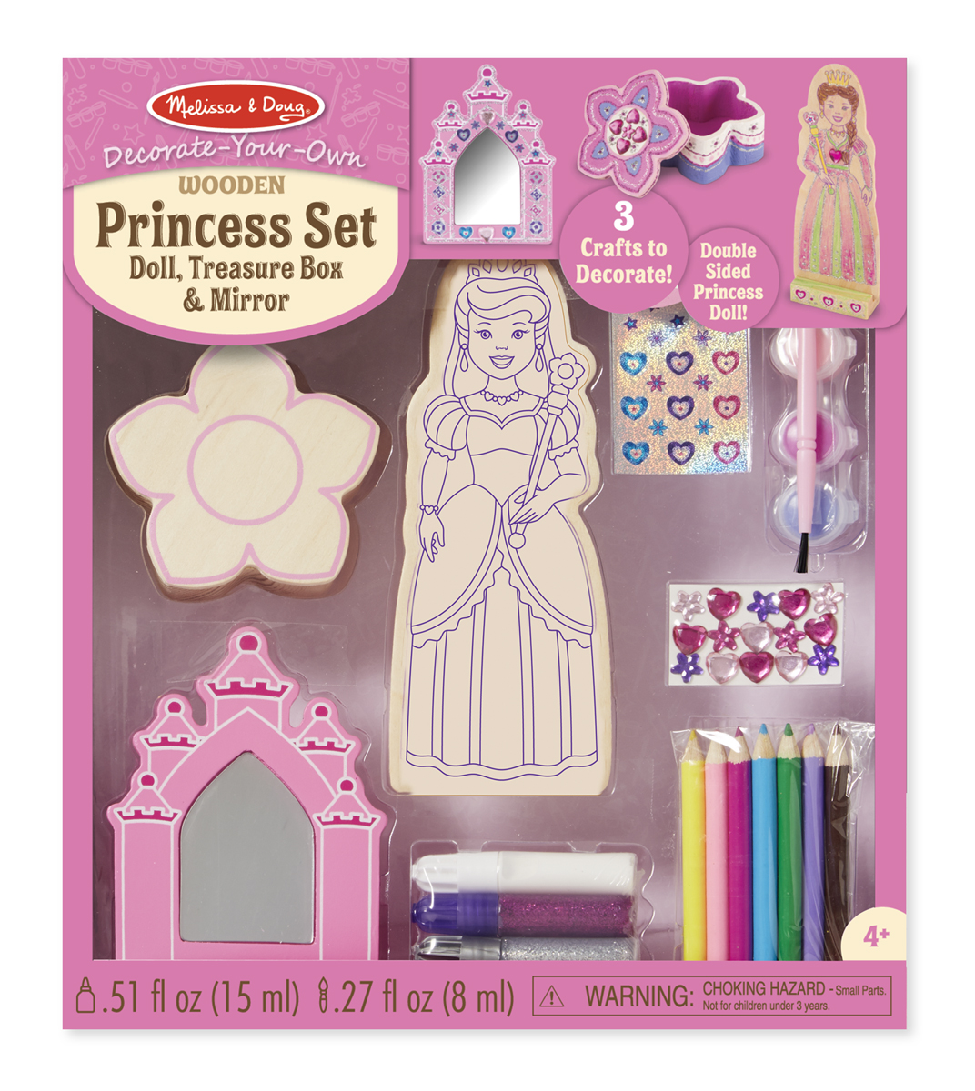 Melissa & Doug - Decorate-Your-Own Wooden Princess Set 096c52e74aa034a0d4d503e2ddf618d2