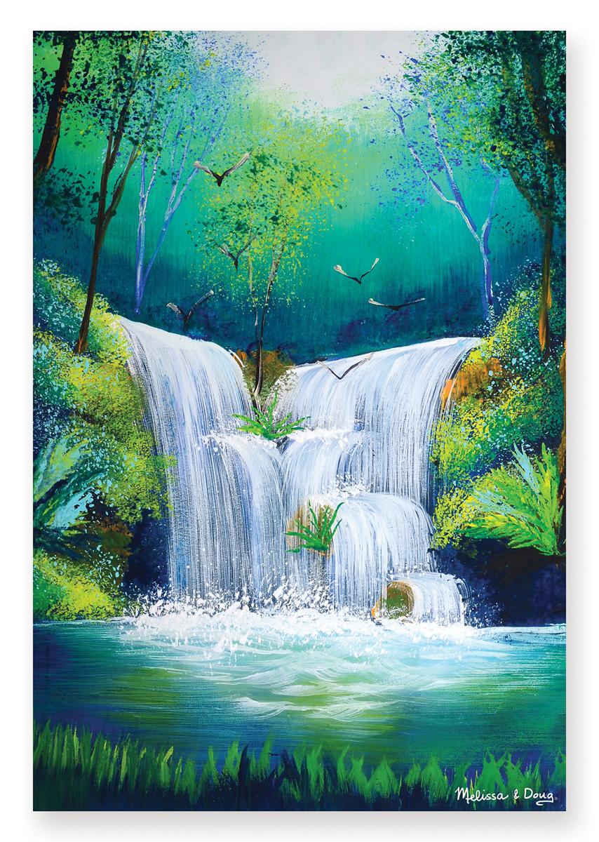 Melissa & Doug - Woodland Waterfall Cardboard Jigsaw - 200 Pieces