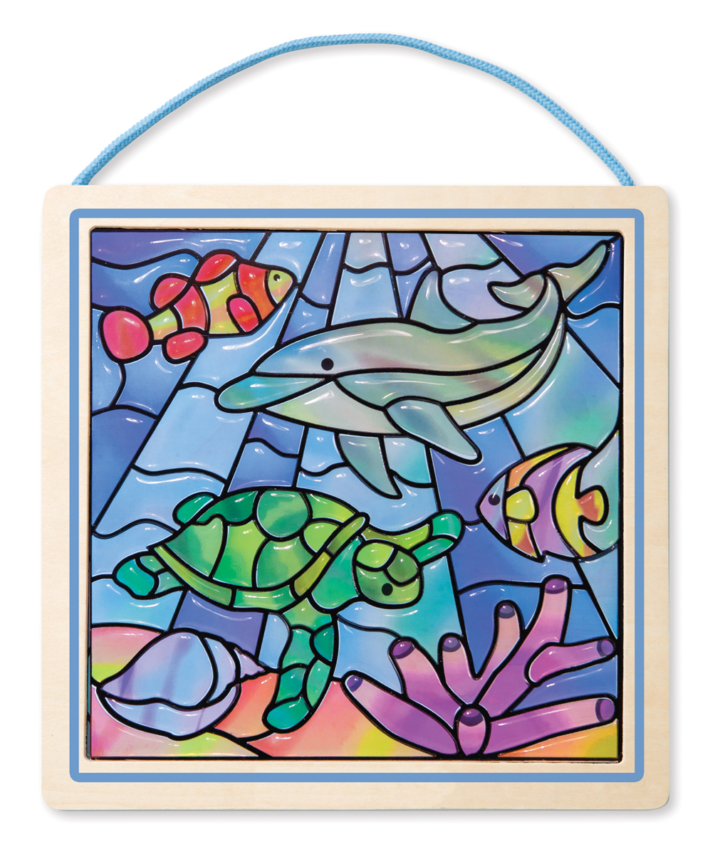 "Melissa and Doug Undersea Fantasy ""Stained Glass"" Peel & Press Sticker by Number"
