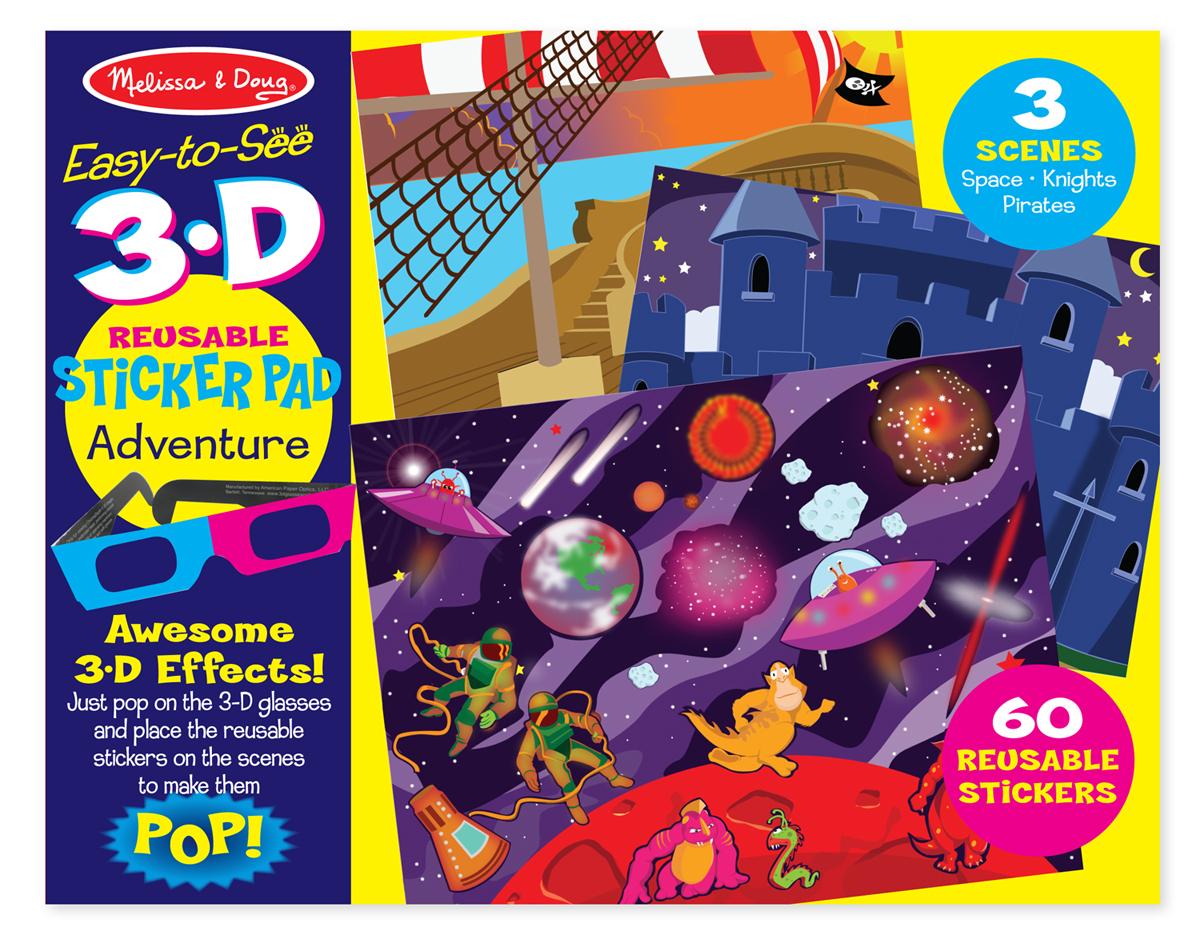 Melissa & Doug Easy-to-See 3-D Reusable Sticker Pad - Adventure 9375