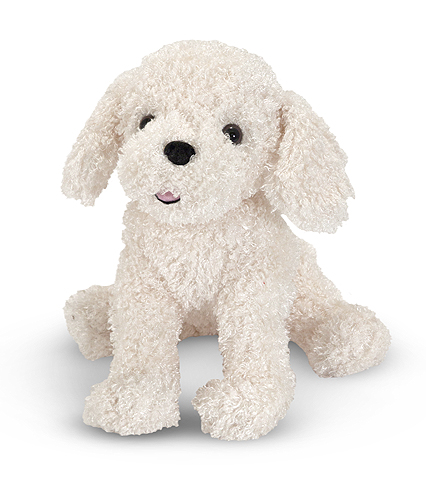 Melissa and Doug Fluffy Bichon Frise Puppy Dog Stuffed Animal