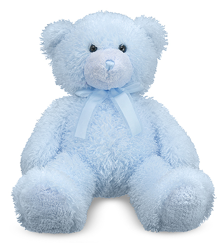 Melissa & Doug - Blue Cotton Candy Teddy Bear Stuffed Animal