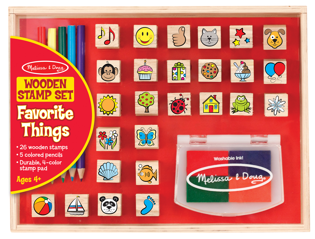 Wooden Favorite Things Stamp Set Toys For 5 7 Year Olds