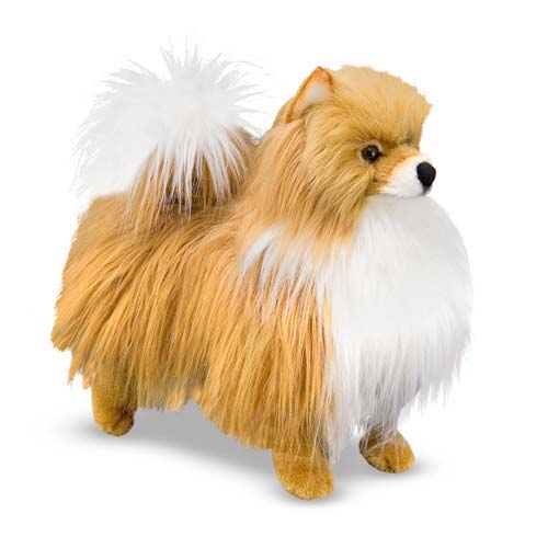 Melissa and Doug Pomeranian Dog Giant Stuffed Animal