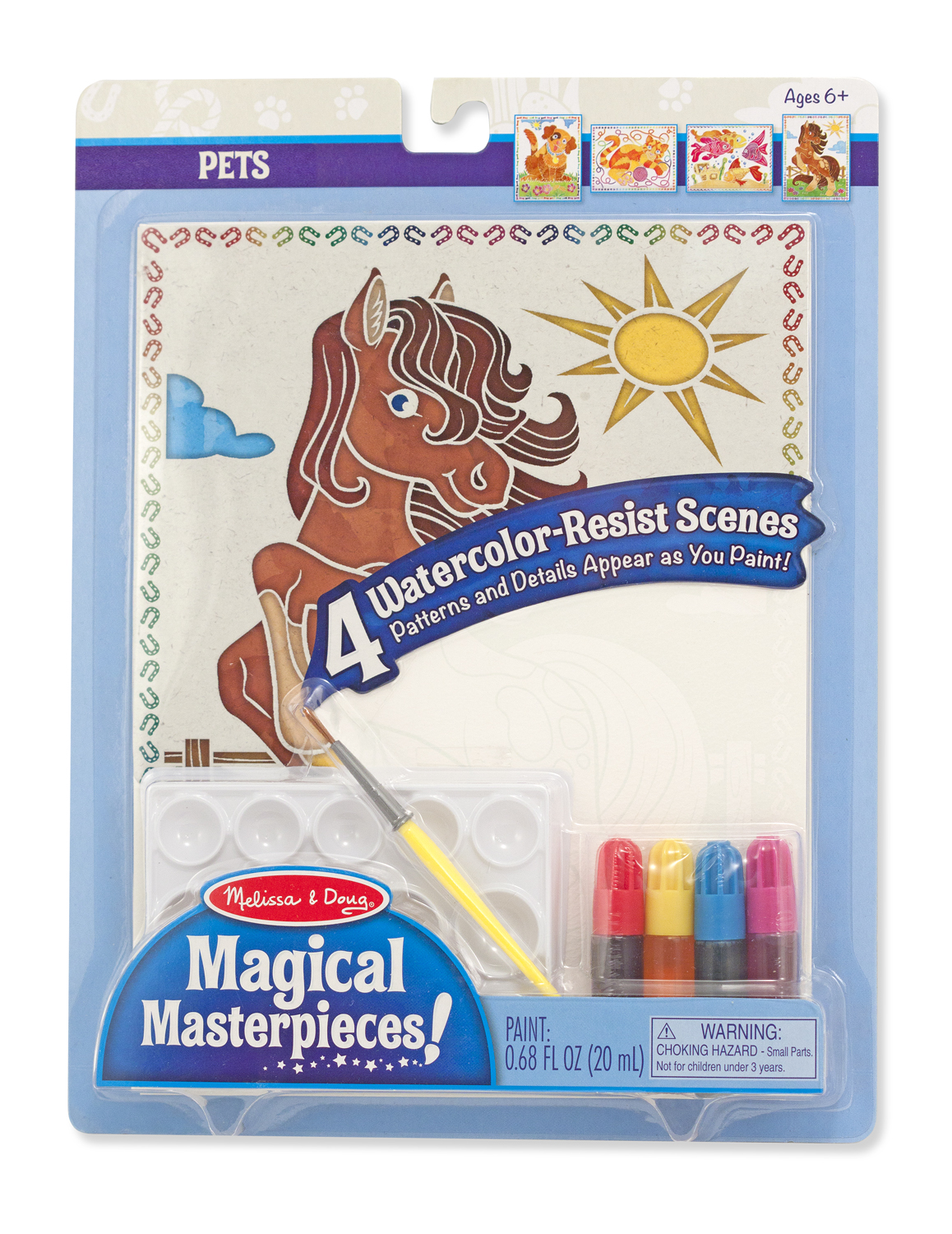 Melissa and Doug Magical Masterpieces – Watercolor Resist – Pets