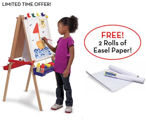 Melissa and Doug Easel with 2 FREE Paper Rolls