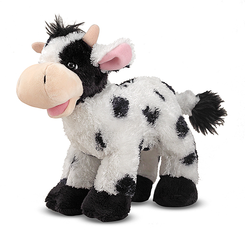 Melissa and Doug Checkers Cow Stuffed Animal