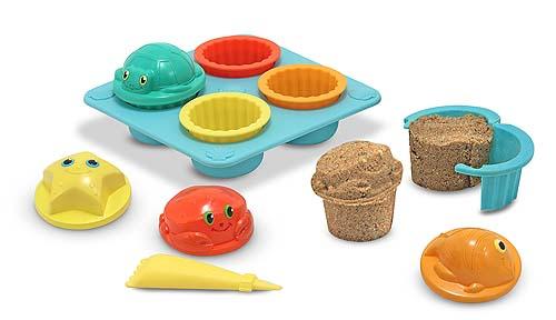seaside sand cupcakes