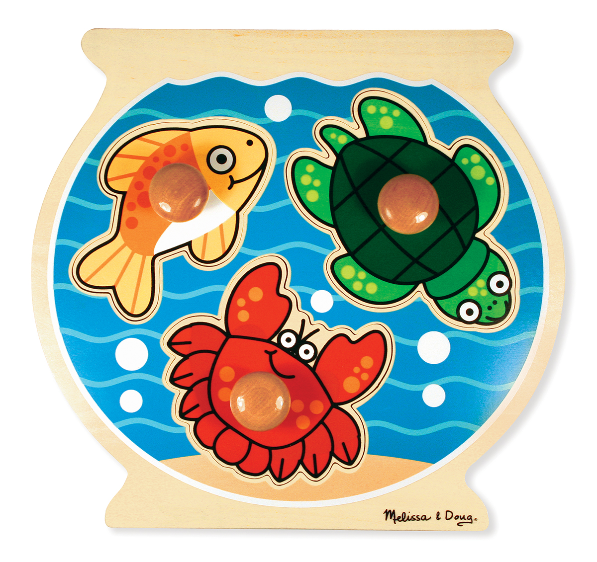 Melissa and Doug Fish Bowl Jumbo Knob - 3 Pieces