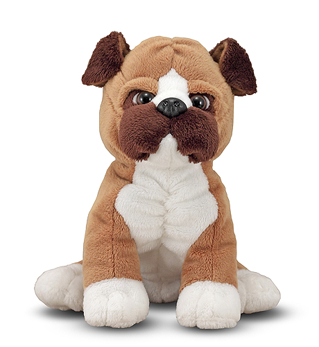 Melissa & Doug Bentley Boxer Puppy Dog Stuffed Animal