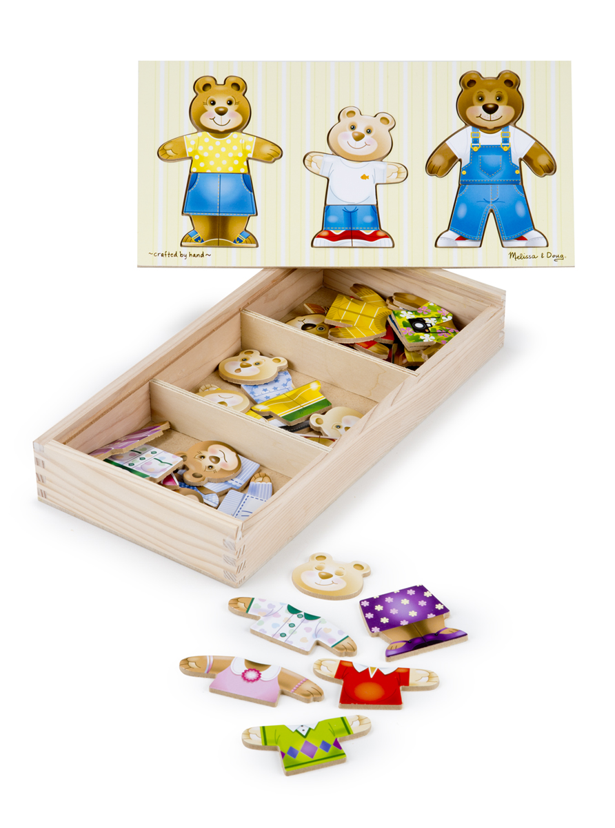 Melissa and Doug Bear Family Dress-Up Puzzle