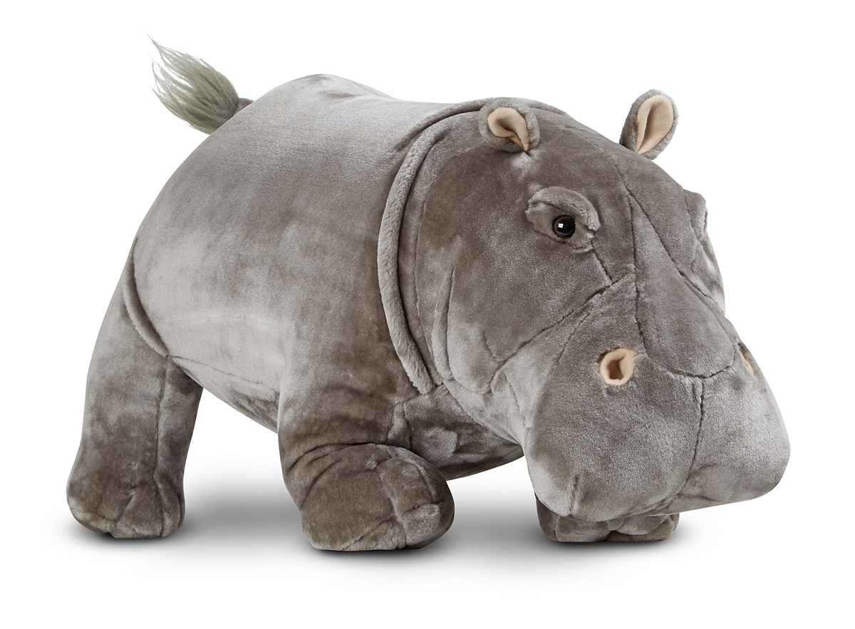 Hippopotamus Lifelike Stuffed Animal 50 75 Melissa