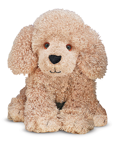 Melissa and Doug - Permley Tan Poodle Puppy Dog Stuffed Animal