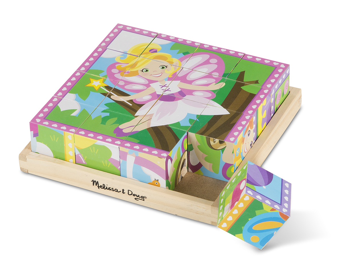 Melissa and Doug Princesses & Fairies Cube Puzzle