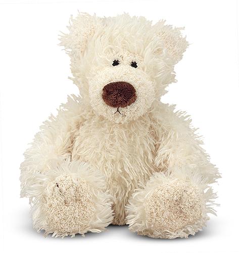 Melissa & Doug - Baby Roscoe Vanilla Teddy Bear Stuffed Animal