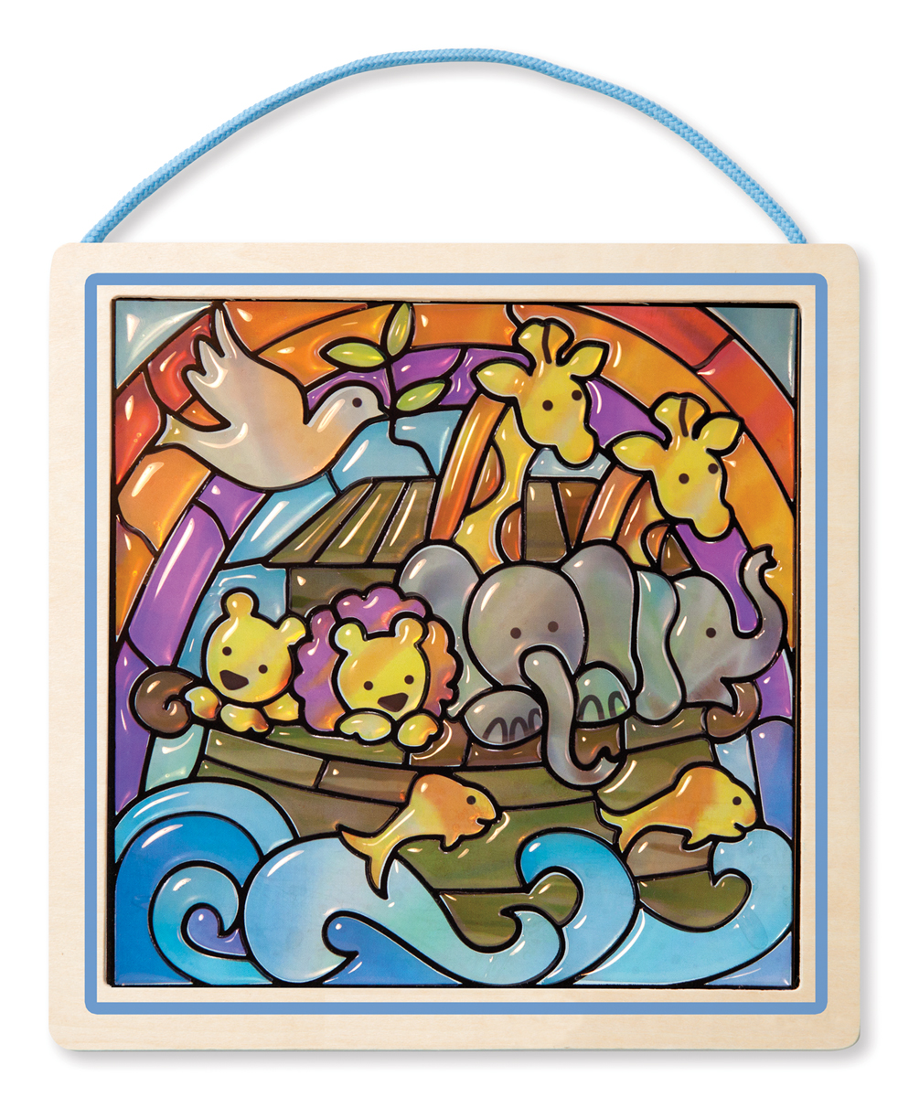 "Melissa and Doug Noah's Ark ""Stained Glass"" Peel & Press Sticker by Number"