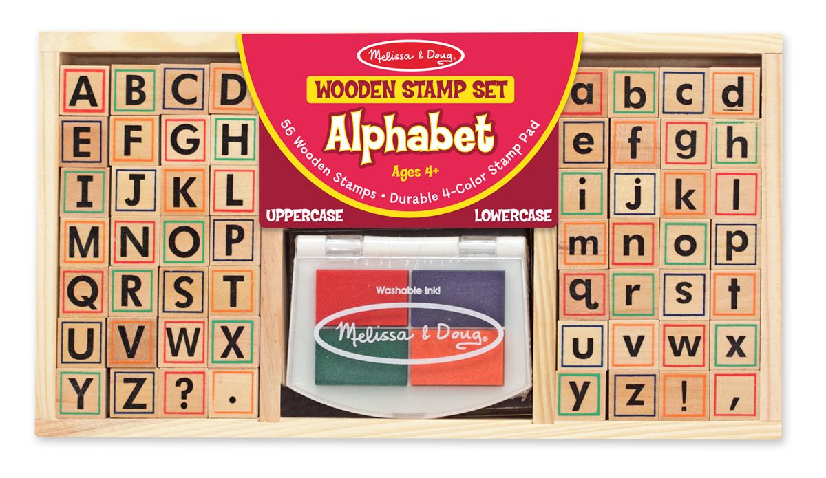 Alphabet Wooden Stamp Set 61 Pc Kit Melissa And Doug On
