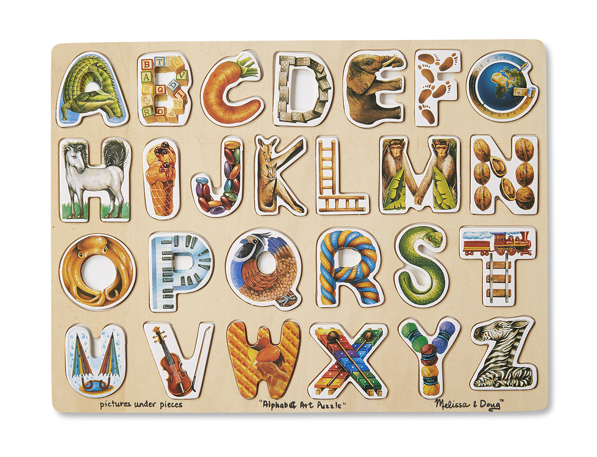 Melissa Amp Doug Alphabet Art Puzzle