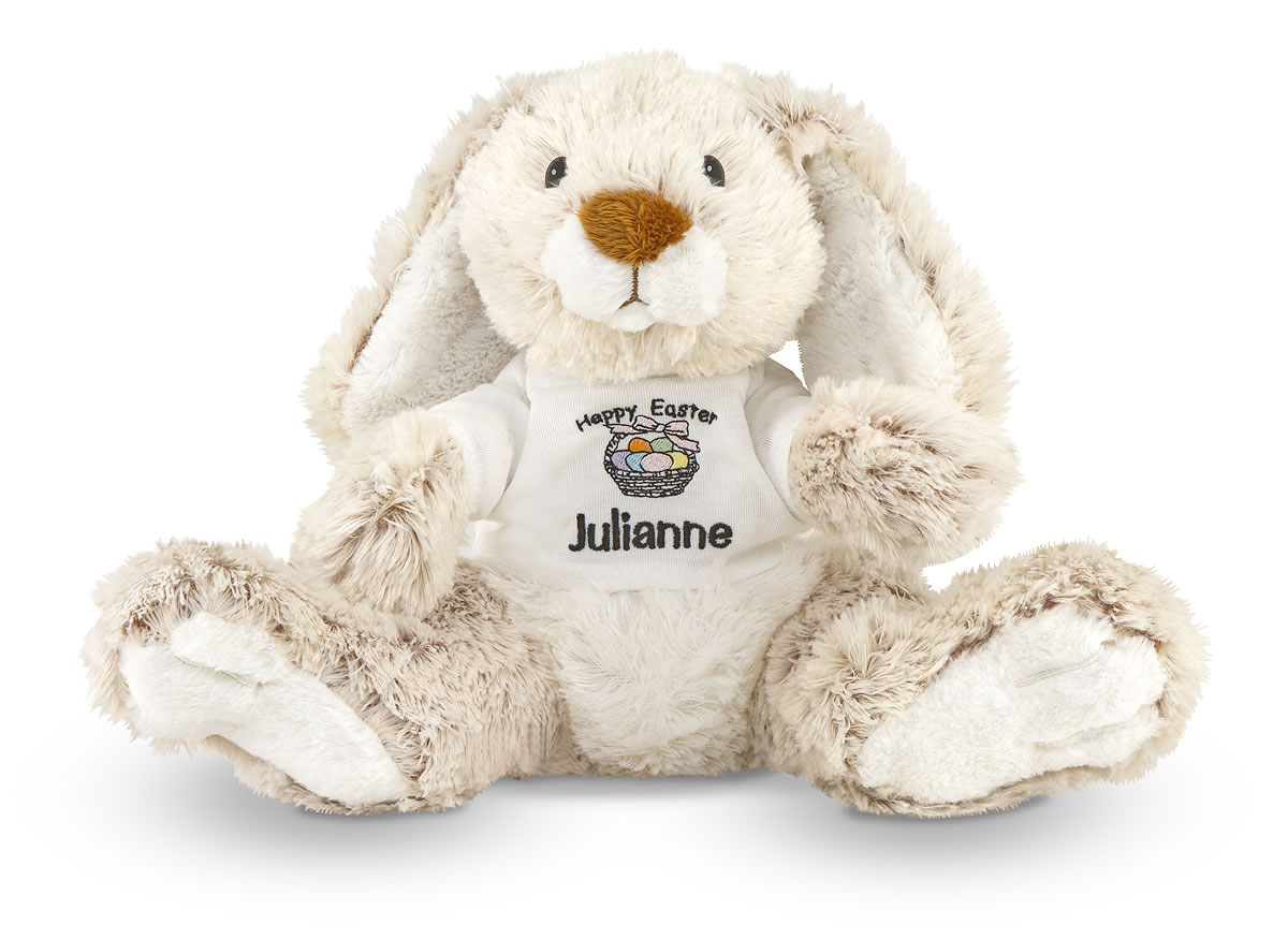 Melissa and Doug Burrow Bunny Rabbit Stuffed Animal - Personalized