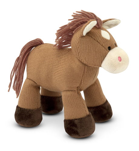 Melissa and Doug Sweater Sweetie Horse Stuffed Animal