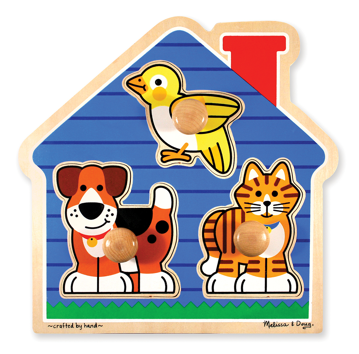 Melissa and Doug House Pets Jumbo Knob Puzzle - 3 Pieces