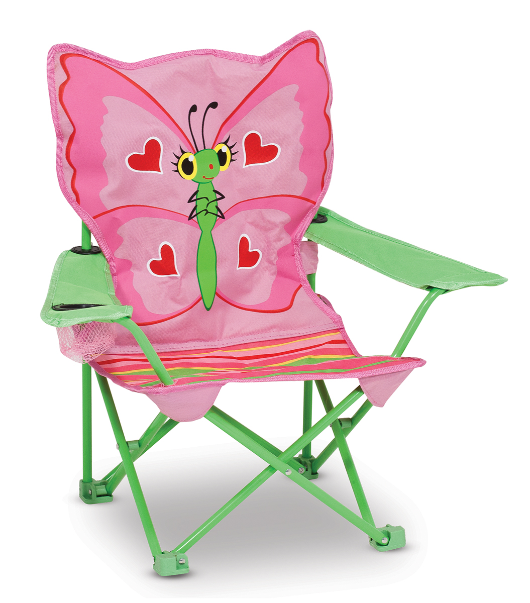 An Image of Melissa and Doug Bella Butterfly Child's Outdoor Chair