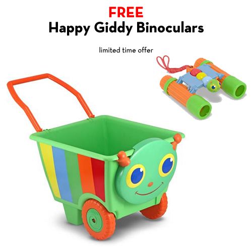 An Image of Melissa and Doug Happy Giddy Cart with FREE Happy Giddy Binoculars