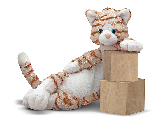 Melissa and Doug Longfellow Cat Stuffed Animal