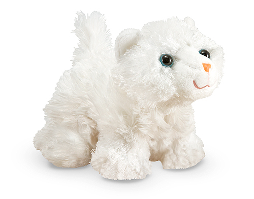 Melissa and Doug Pixie White Persian Kitten Stuffed Animal