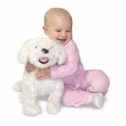 Melissa & Doug Bichon Frise Dog Giant Stuffed Animal