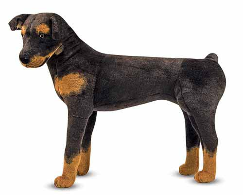 Melissa & Doug Rottweiler Giant Stuffed Animal