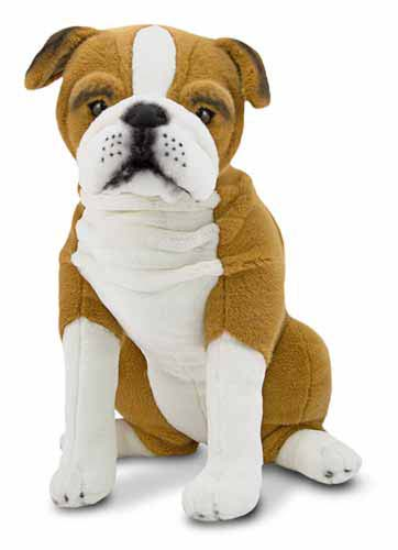 Melissa & Doug English Bulldog Dog Giant Stuffed Animal
