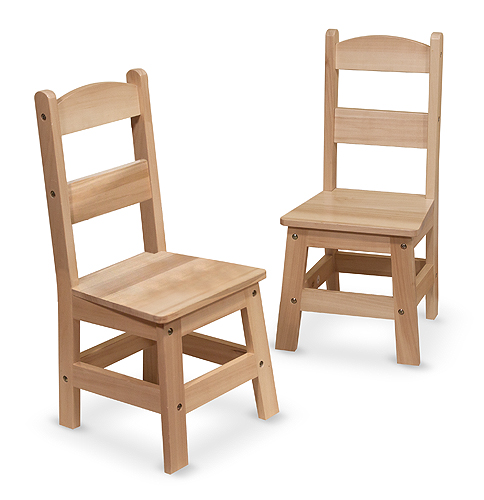 Melissa and Doug Pair of Wooden Chairs 2-Piece Set
