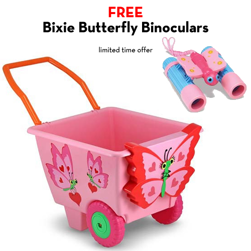 An Image of Melissa and Doug Bella Butterfly Cart with FREE Bixie Butterfly Binoculars