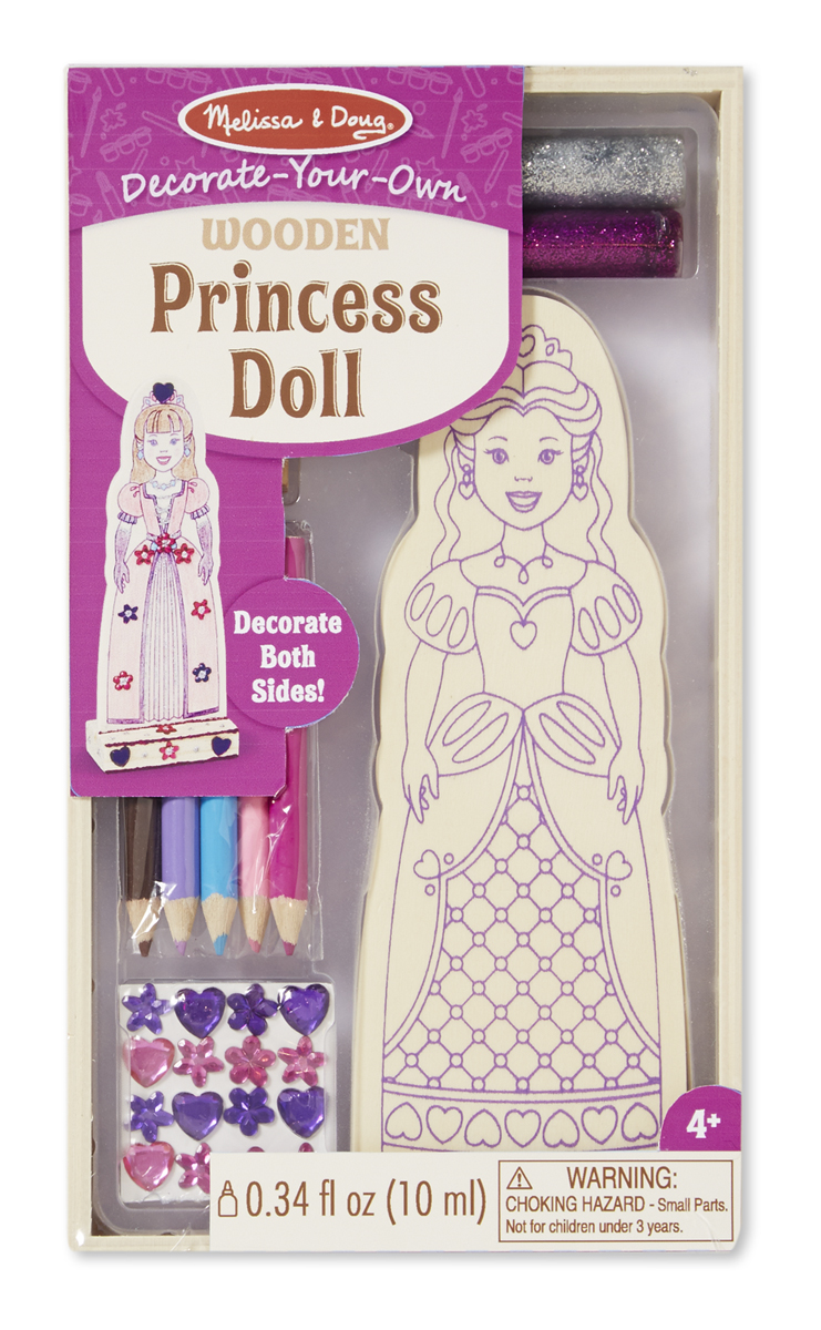 Melissa & Doug Decorate-Your-Own Wooden Princess Doll 8847